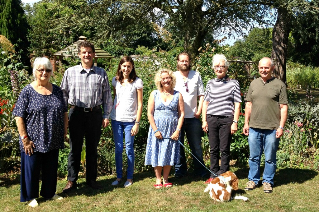 The therapy team in the garden at Dandelion Time