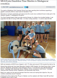 Kent Messenger Article 8.10.15