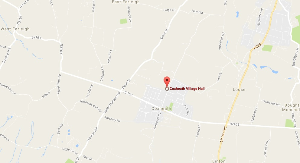 coxheath village hall map