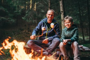 SP father son campfire